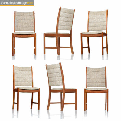 Johannes Andersen Teak Dining Chairs 7171 for Uldum Møbelfabrik