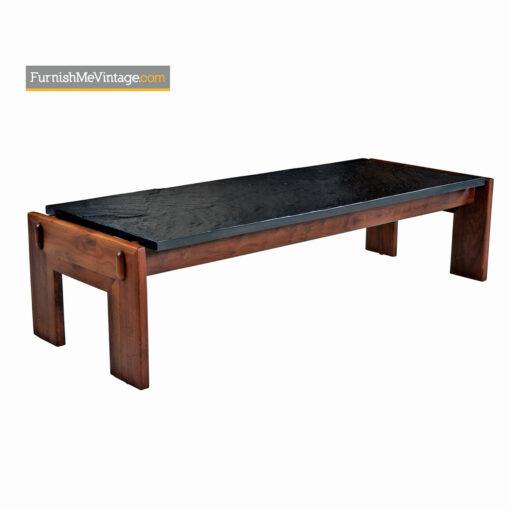 Adrian Pearsall Slate Top Walnut Base Living Room Set