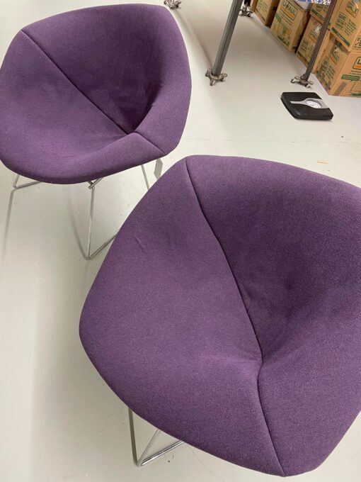 Knoll Bertoia Diamond Chairs purple