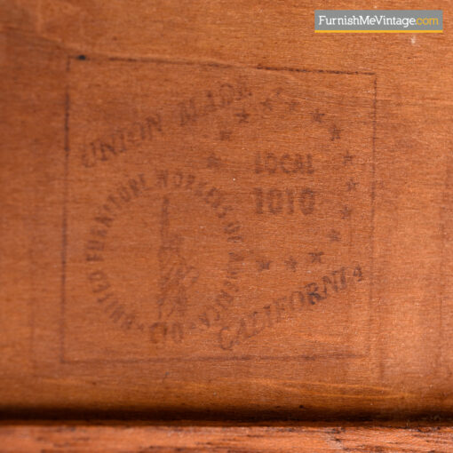 John Keal for Brown Saltman Cuban Mahogany Display Cabinet Credenza