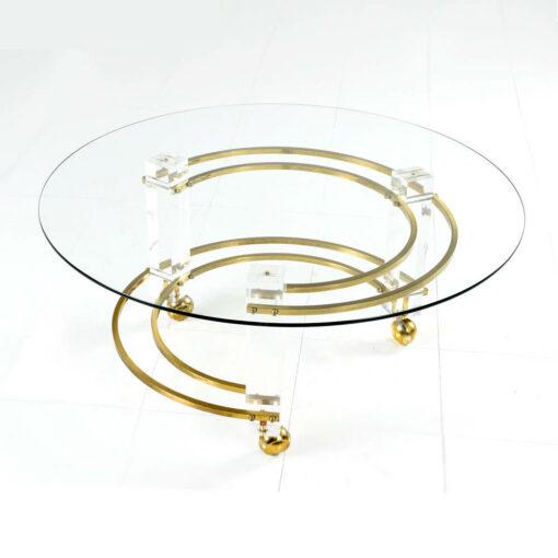 charles hollis jones circular coffee table