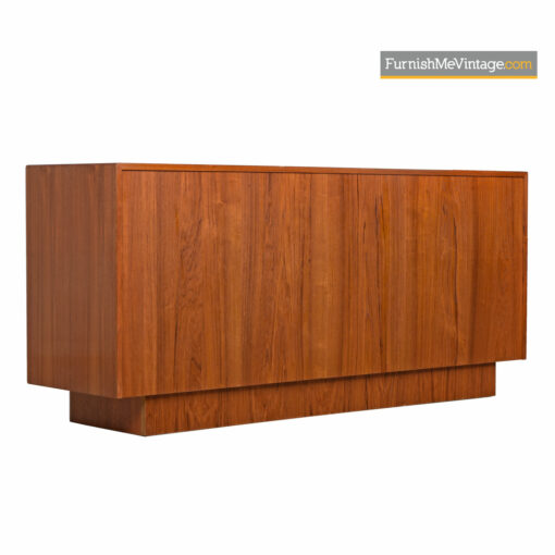 Tambour Credenza - Bernhard Pedersen Danish Modern Media Cabinet