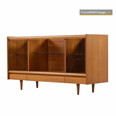 John Keal for Brown Saltman Cuban Mahogany Display Cabinet Credenza