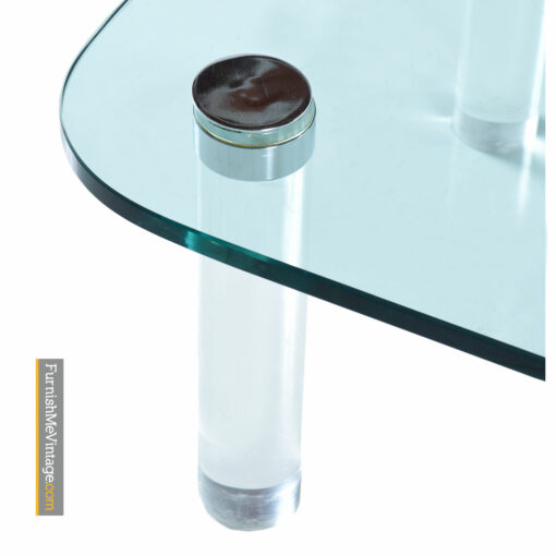 Pace Collection Lucite Coffee Table by Leon Rosen - Glass And Chrome