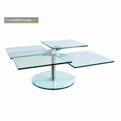 Orbiting Glass Coffee Table - Contemporary Modern