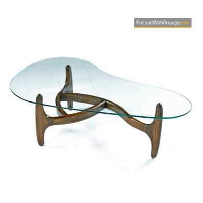 Adrian Pearsall Coffee Table - Solid Oak & New Glass
