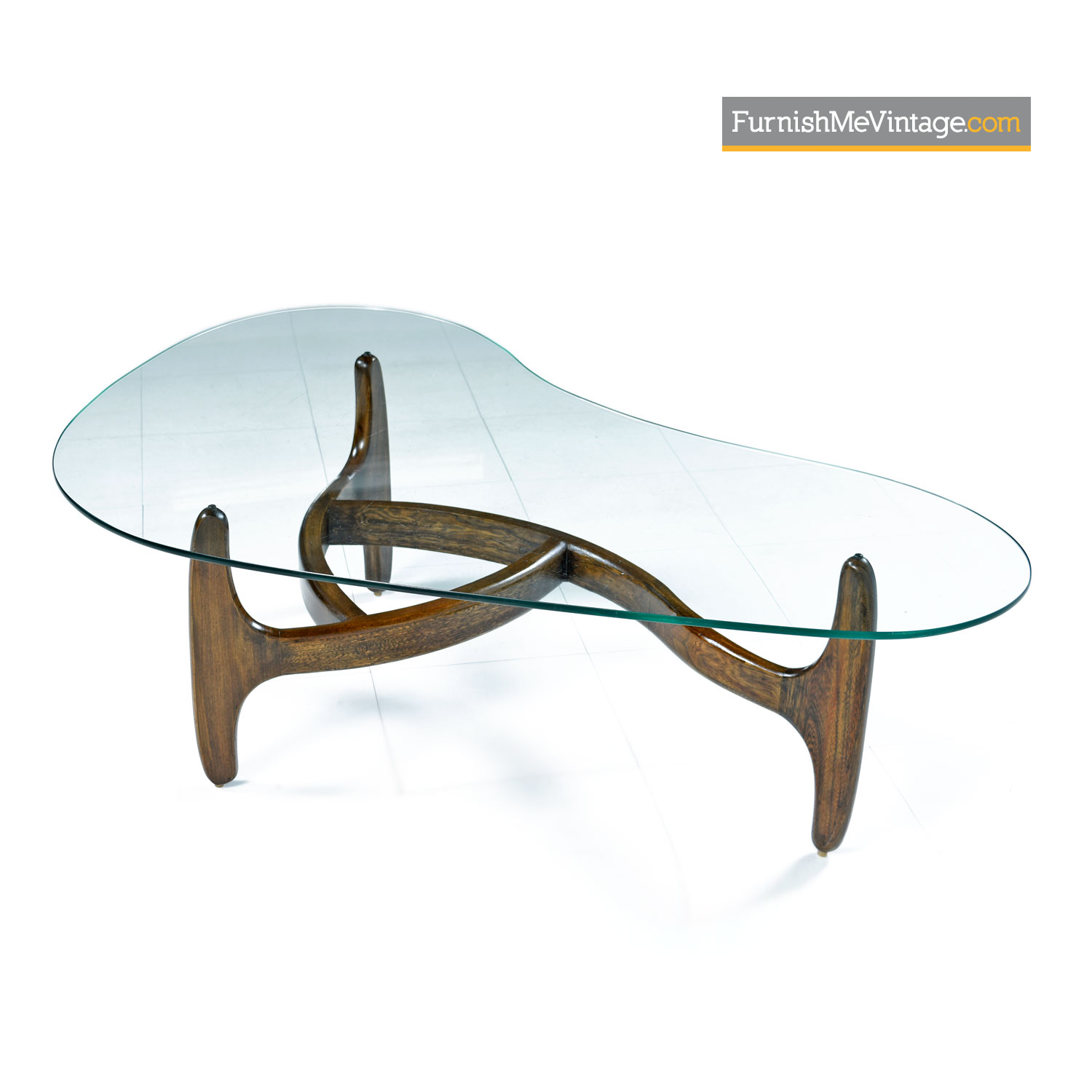 Adrian Pearsall Coffee Table Solid Oak New Glass