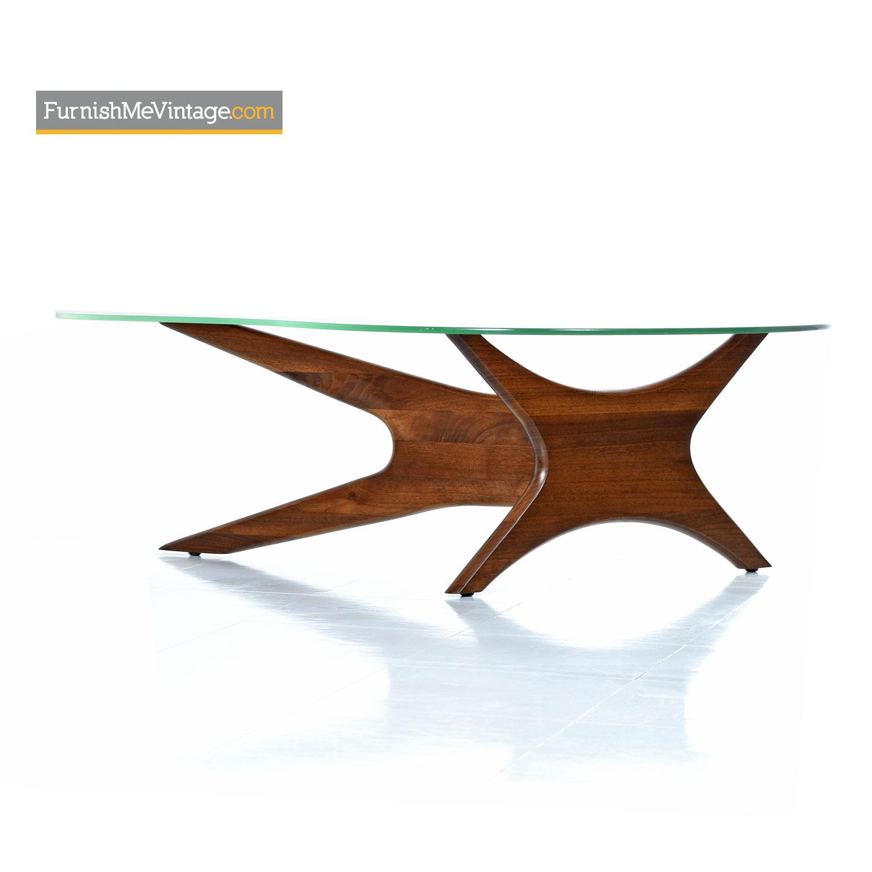 Pearsall Jacks Coffee Table Solid Walnut New Glass