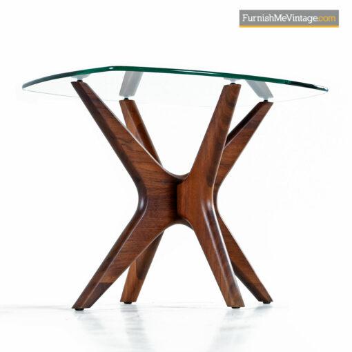 Craft Associates Adrian Pearsall Jacks End Table Set - Walnut & Glass