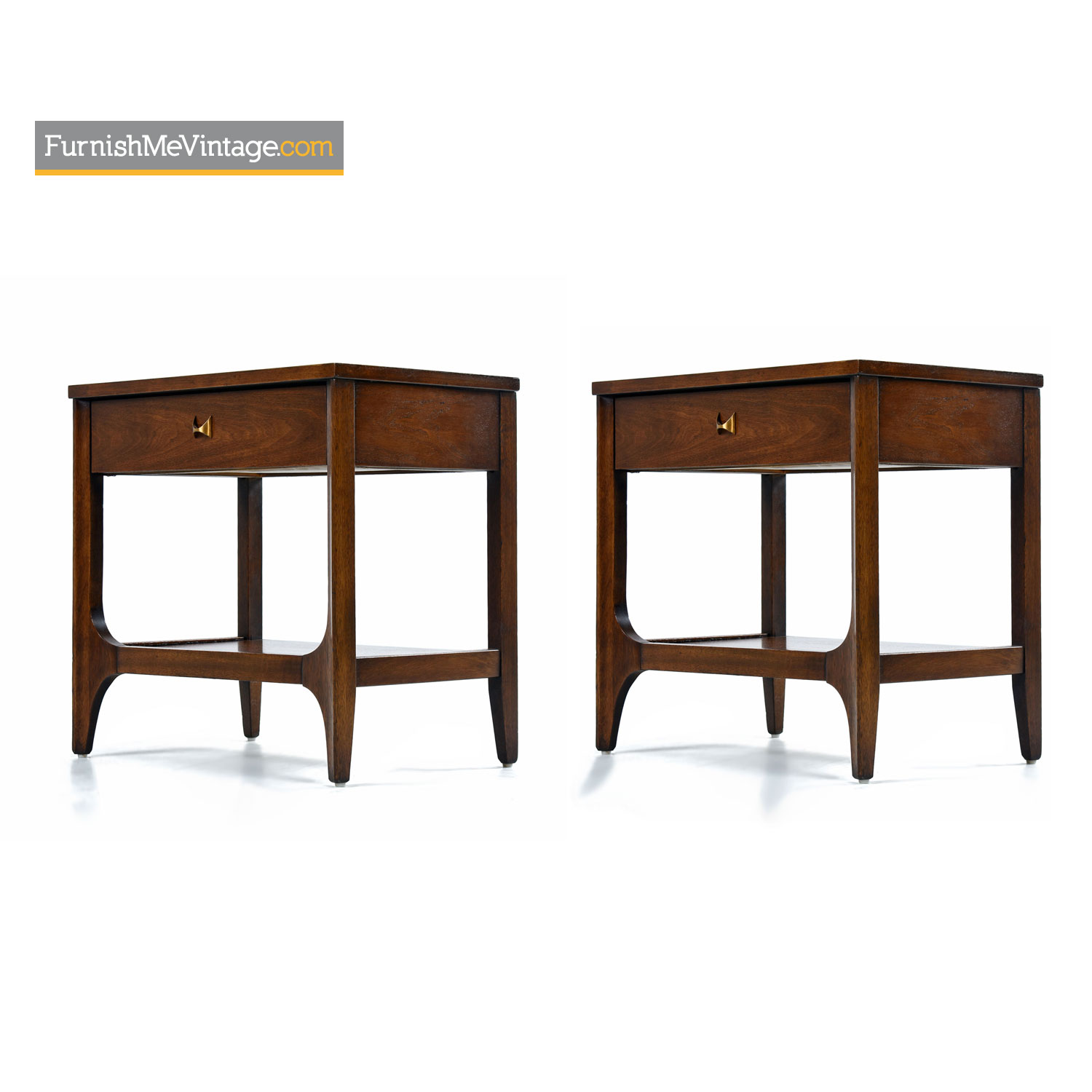 Pair Of Brasilia Nightstand End Tables By Broyhill Premier