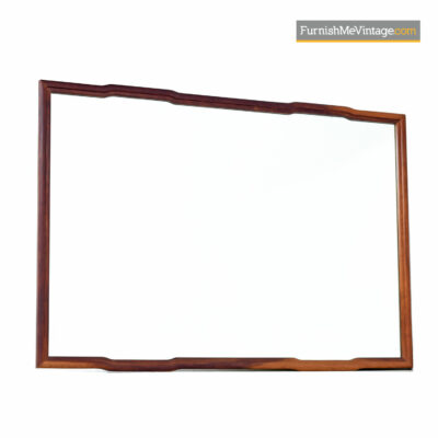 Asian Modern Walnut Mirror - John Keal for Brown Saltman Style
