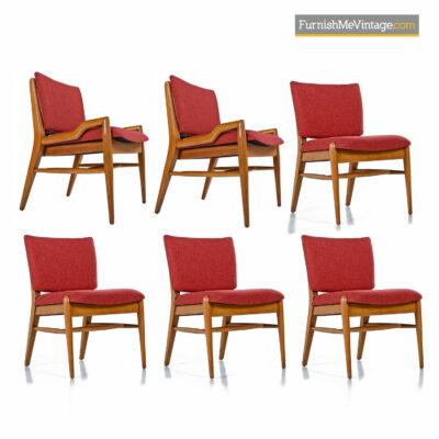 John Keal Dining Chairs in Mahogany by Brown Saltman - Circa 1950's