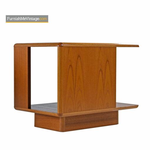 Danish Teak Nightstands With Bookshelf Storage by Sannemann