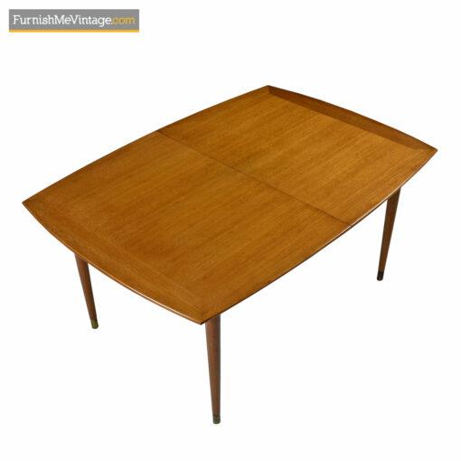 John Keal Dining Table in Mahogany by Brown Saltman - Circa 1950's
