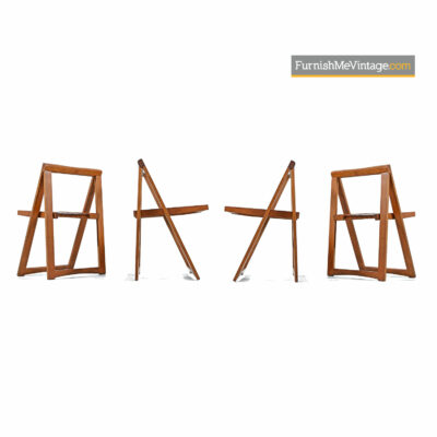 Folding Dining Set - Mid-Century Teak & Beech Wood Made in Romania
