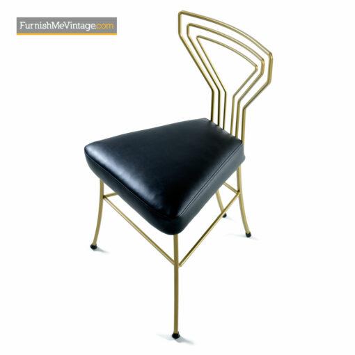 Deco Modern Patio Dinette - Salterini Style Gilt Metal & Glass