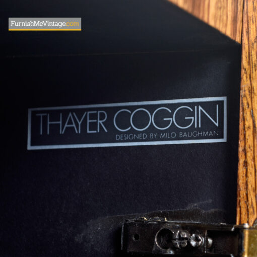 Zebra Wood Credenza Cabinet by Milo Baughman for Thayer Coggin