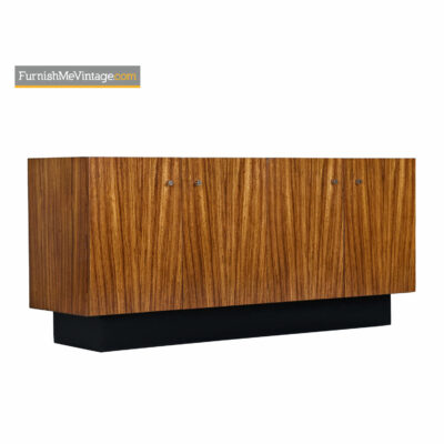 Zebra Wood Credenza Cabinet by Milo Baughman for Thayer Coggin