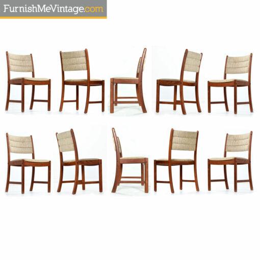 Johannes Andersen Danish teak dining chairs
