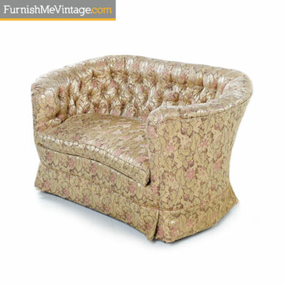antique settee pink gold satin
