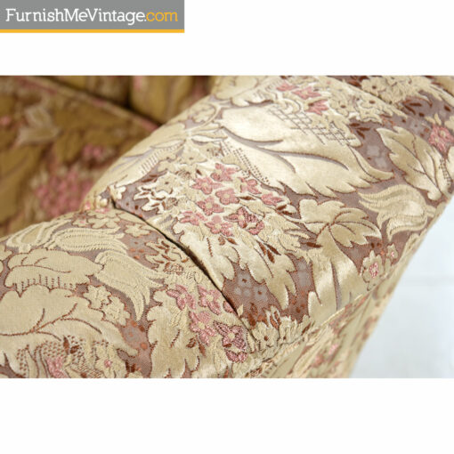 beige pink satin floral fabric