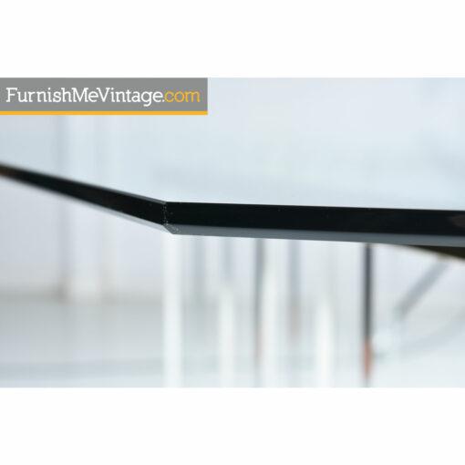 brass bevel glass table