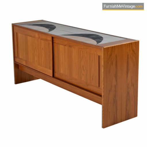 Danish teak credenza with tile top