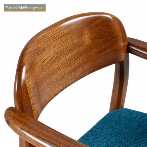 danish teak desk chair