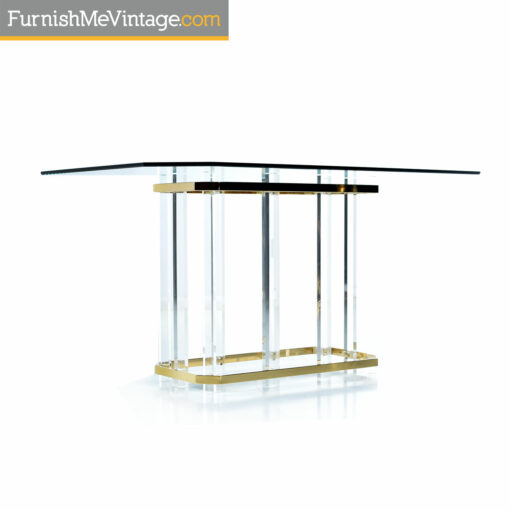gold acrylic dining table