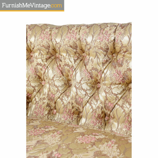 gold pink tufted fabric