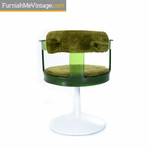 Green Daystrom lucite tulip chair