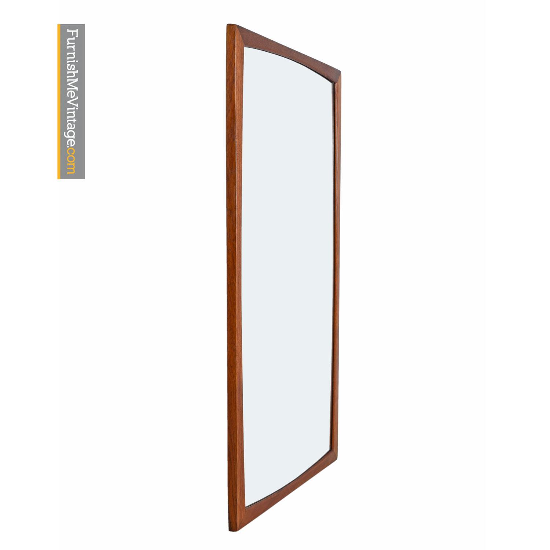 Aksel Kjersgaard Mid Century Modern Danish Teak Mirror Furnish Me Vintage