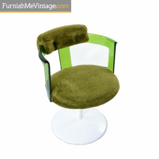 Daystrom lucite green tulip chair