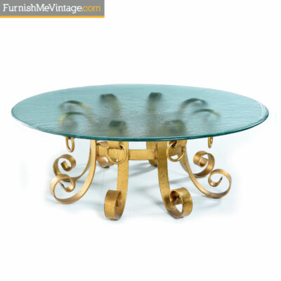 mediterranean coastal gold coffee table