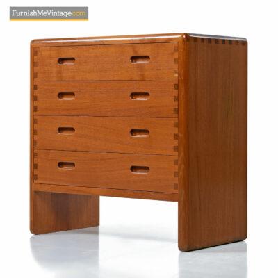 Niels Back Danish teak chest of drawers dresser
