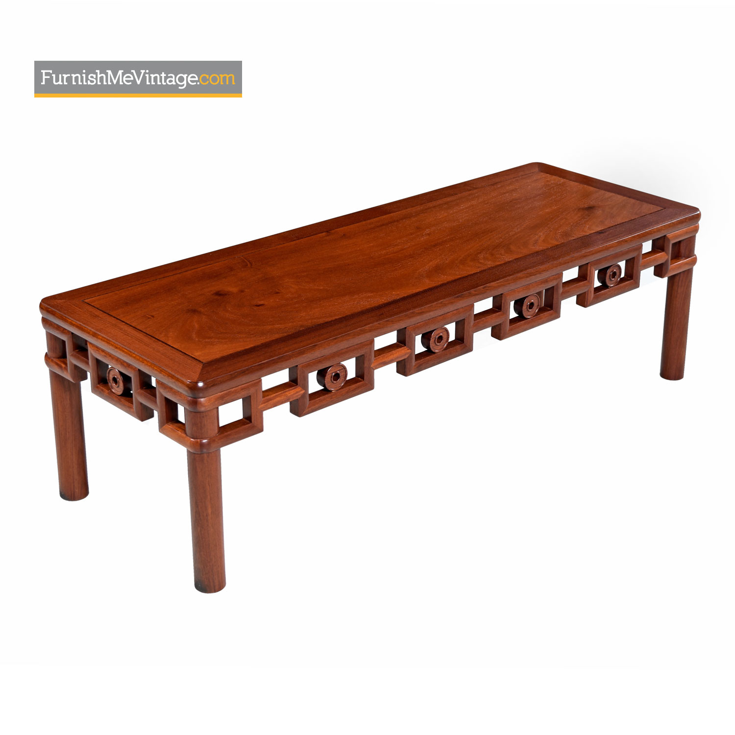 Michael Taylor Style Solid Mahogany Asian Modern Coffee Table