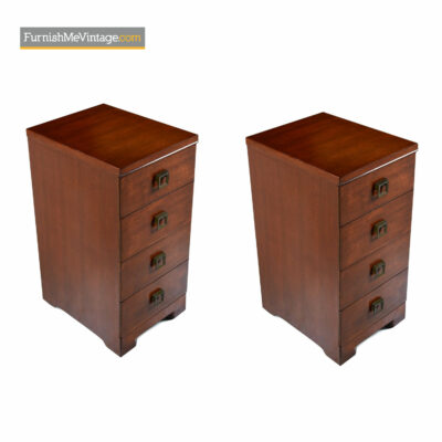 Mahogany Showers Brothers Chest of Drawers Nightstands - Art Deco Modern