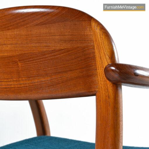 solid teak arm chair