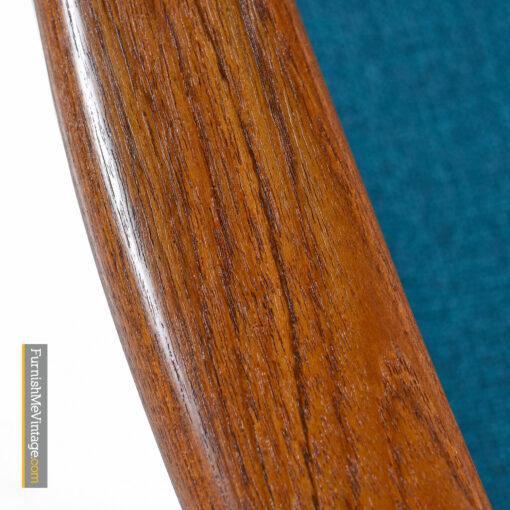 solid teak desk chair danish modern