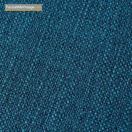 Danish teak armchair with blue fabric seat