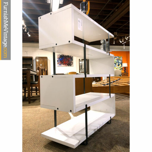 Solid wood white bookcase by Verbois