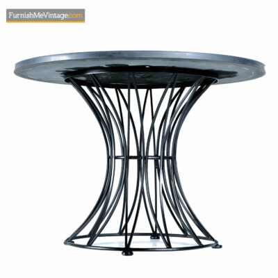 Russell Woodard circular wrought iron patio table