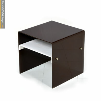 acrylic brown pace side table
