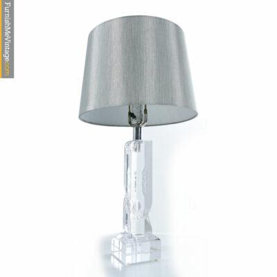 acrylic lucite boudoir lamp