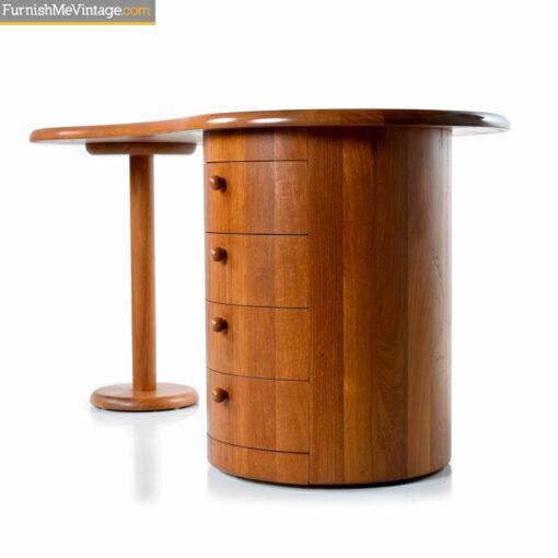art deco teak desk