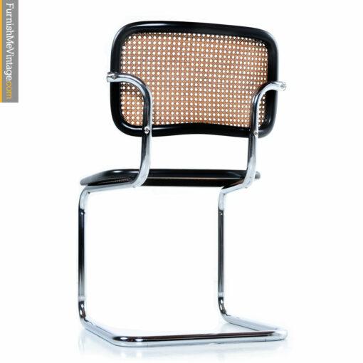 modern chrome and black chair