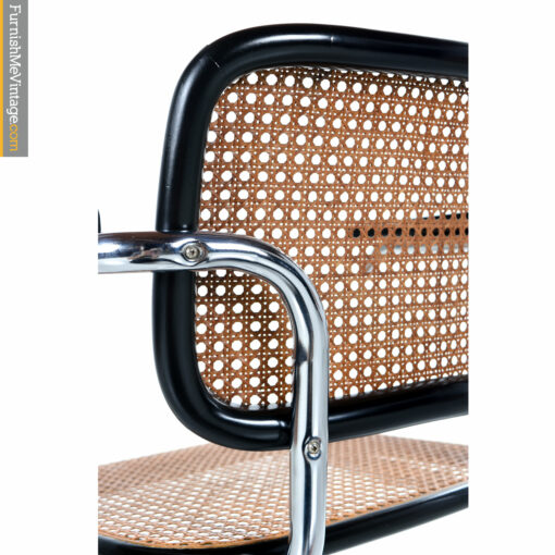 chrome and wicker chair