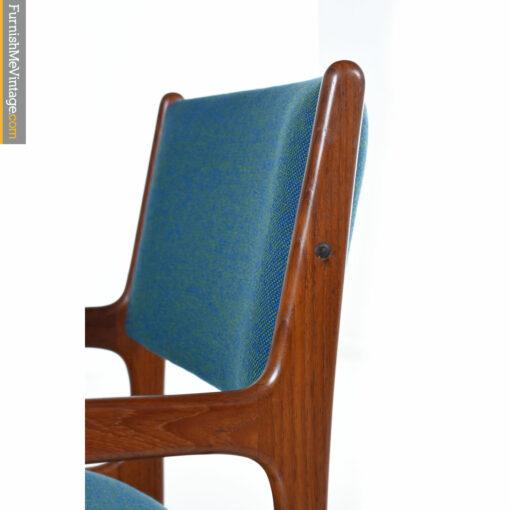 blue green teak chair