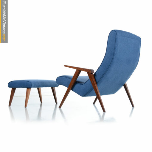 blue mid century modern chair