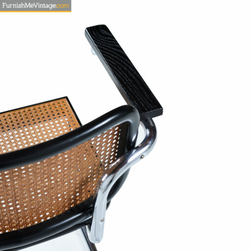 wicker and black chrome chair